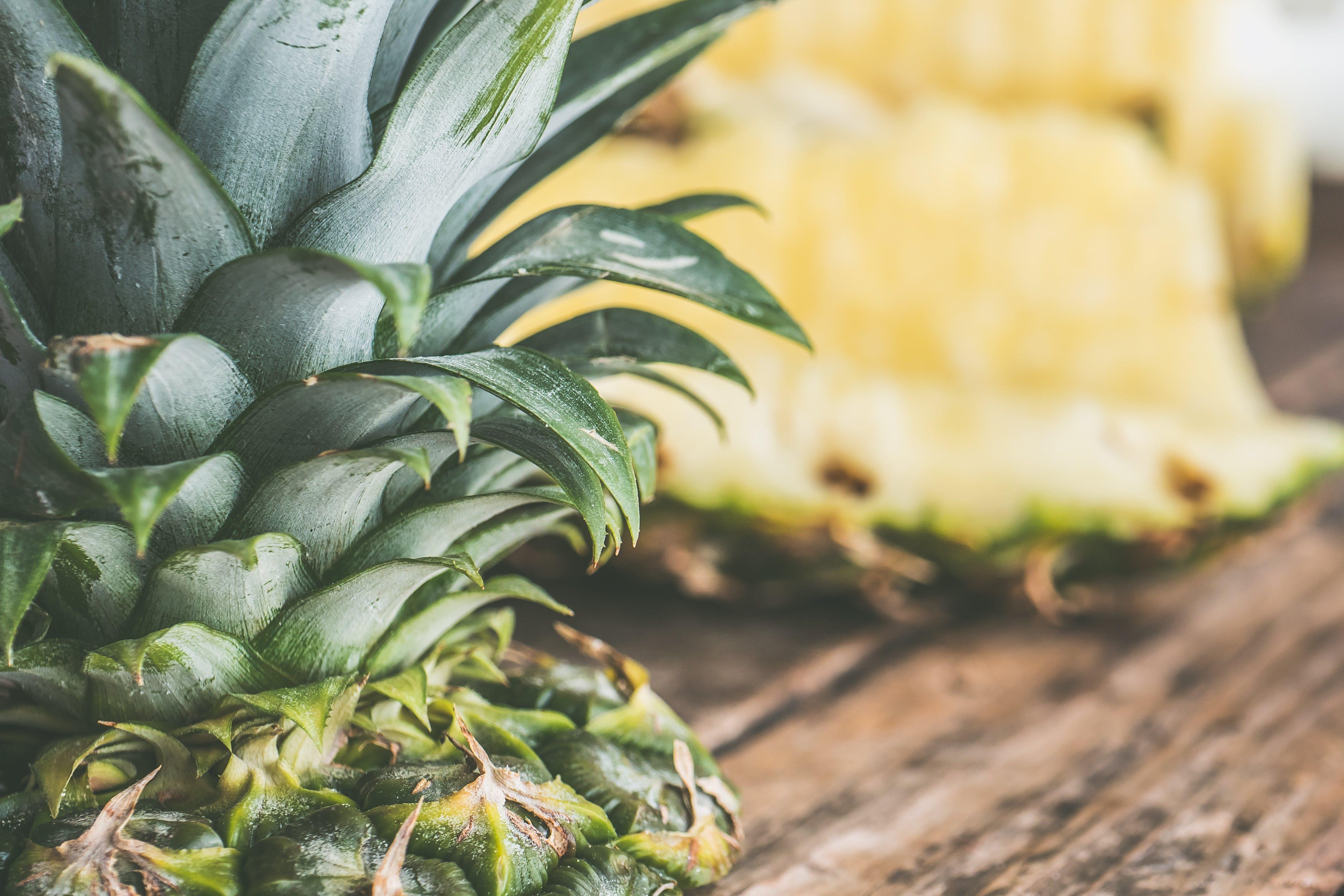 ananas, close-up, delikat