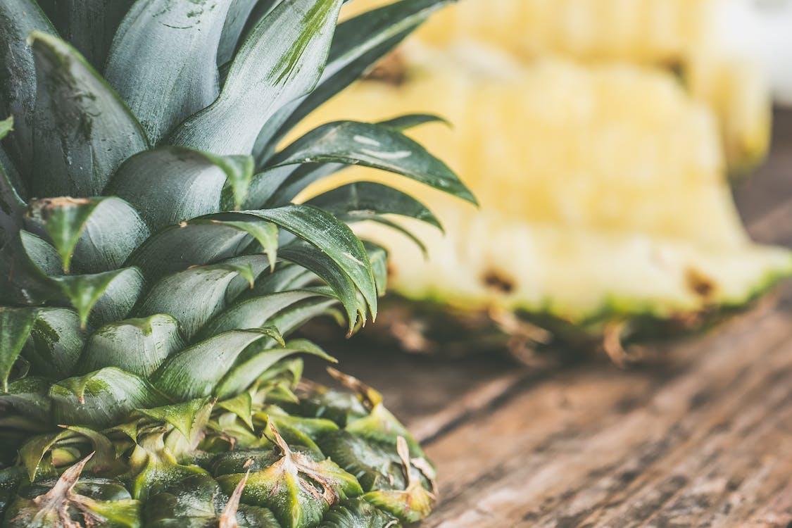 ananas, drewno, jedzenie