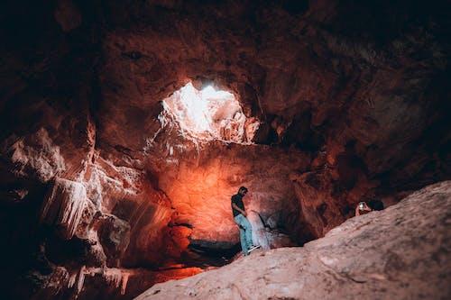 Man Inside Cave