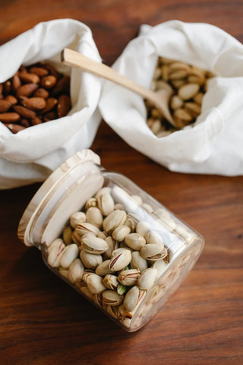 Different nuts in eco friendly package