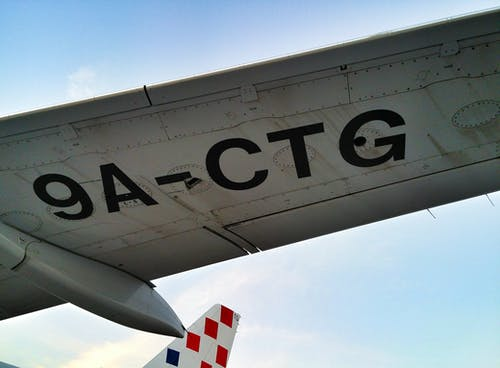 Free stock photo of 9ACTG, a319, aircraft tail, aircraft wing