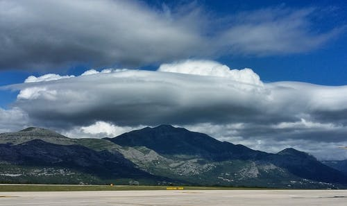 Free stock photo of airport, clouds, mountain top, stratocumulus