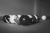 black-and-white, blur, round
