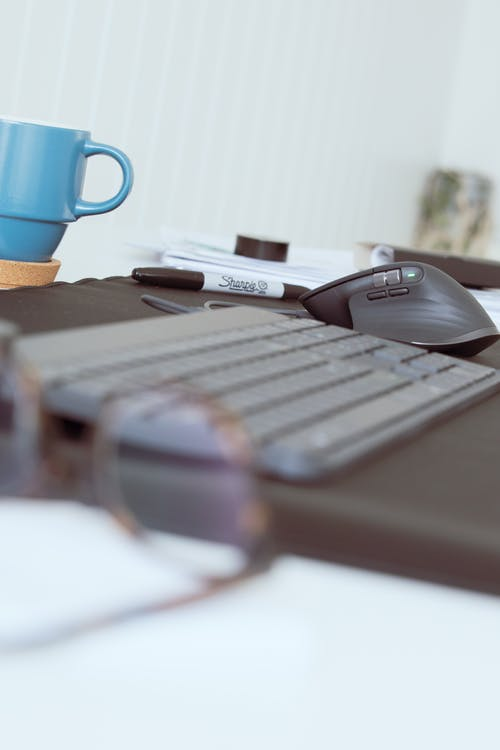 Free stock photo of apple mouse, coffee business, computer keyboard