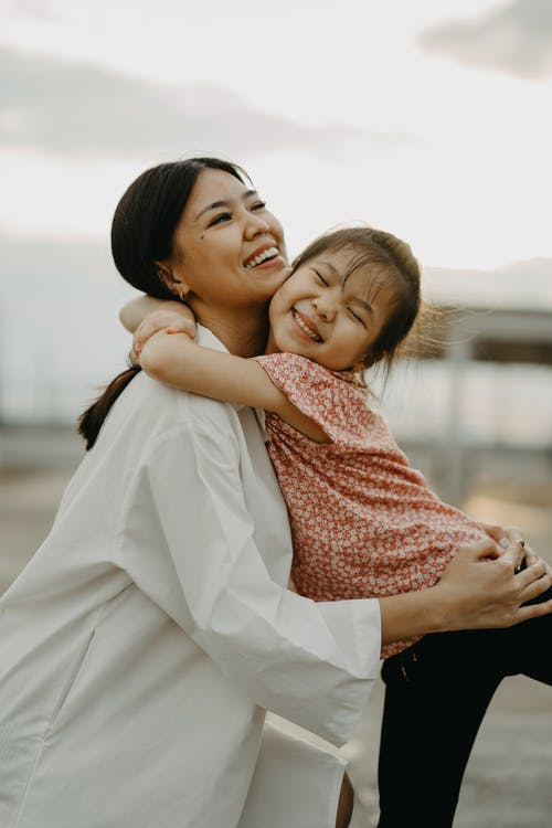 Free stock photo of affection, child, embrace