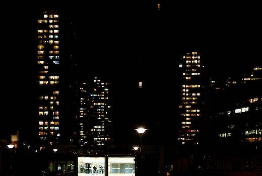 Free stock photo of light, night, dark, building