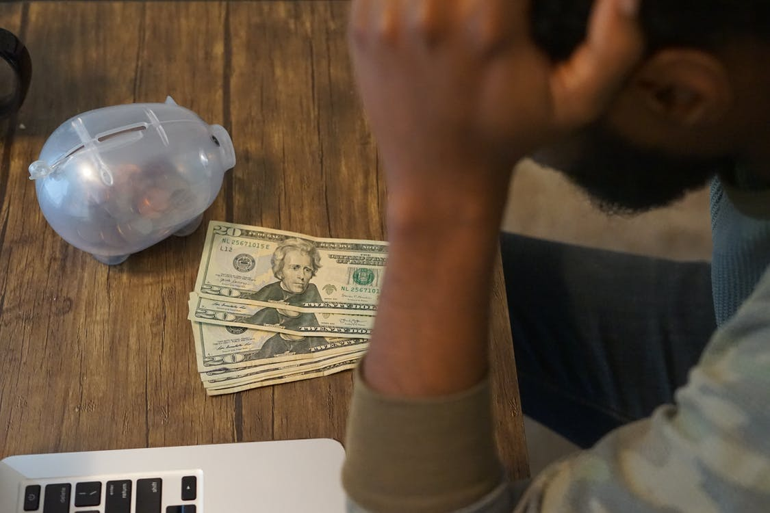 Free stock photo of african american man, black man with money, desk