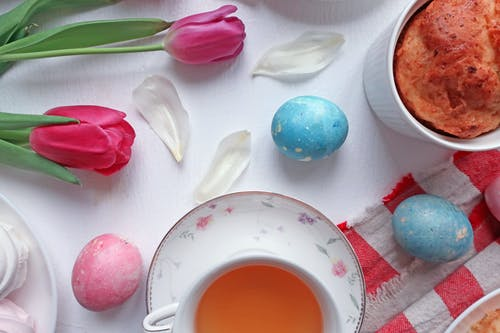 Free stock photo of celebration, cheesecake, colored eggs