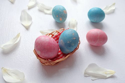 Blue and Pink Egg Decors