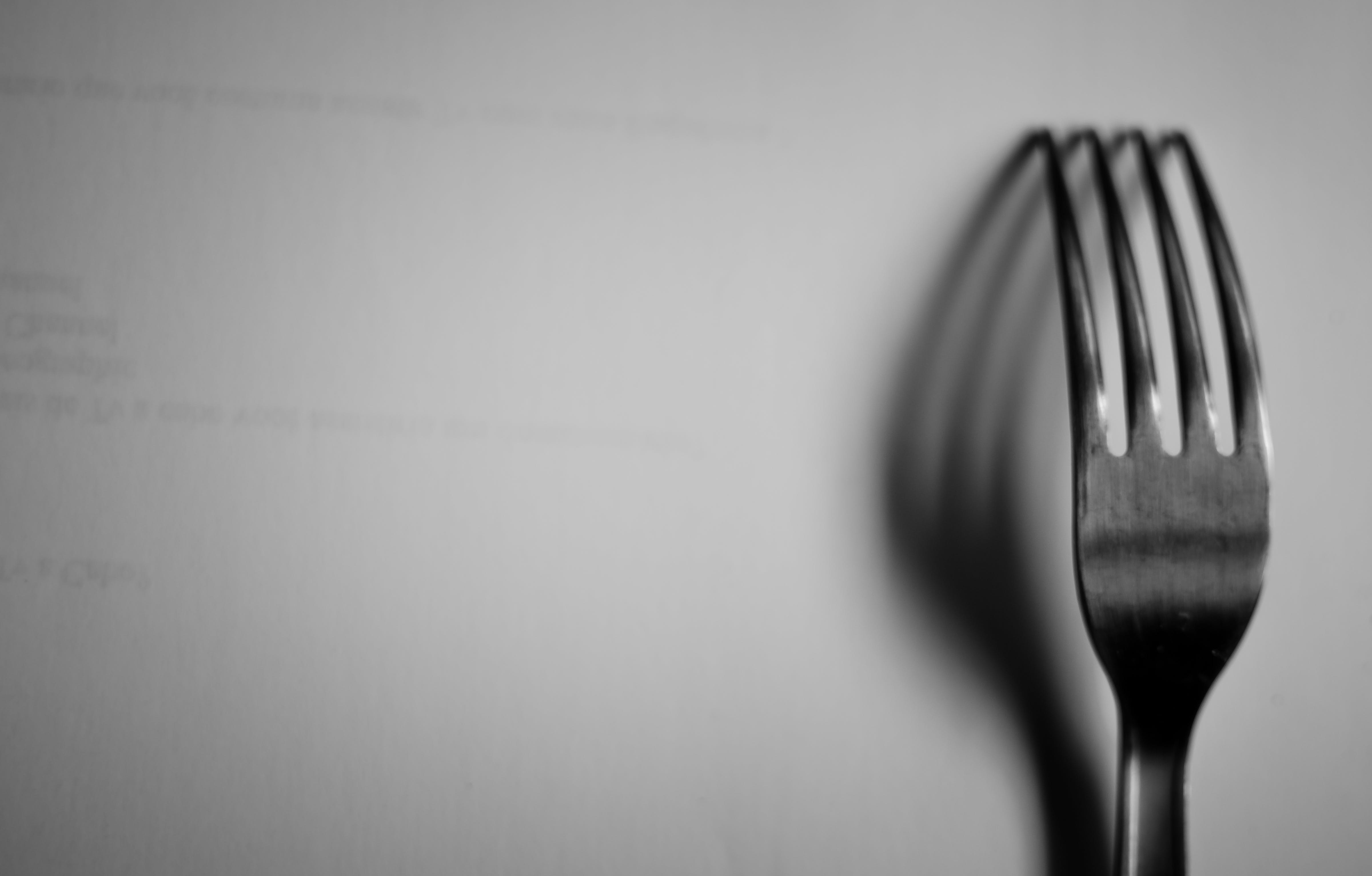 Free stock photo of light, still, shadow, fork