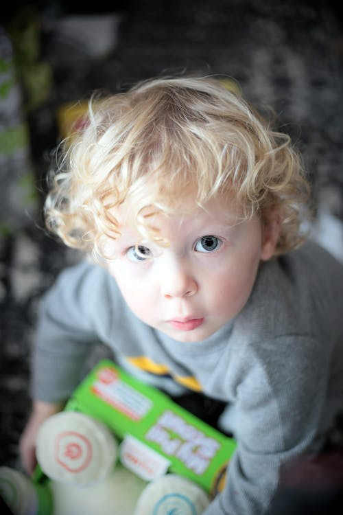 Close-Up Photo of a Cute Toddler