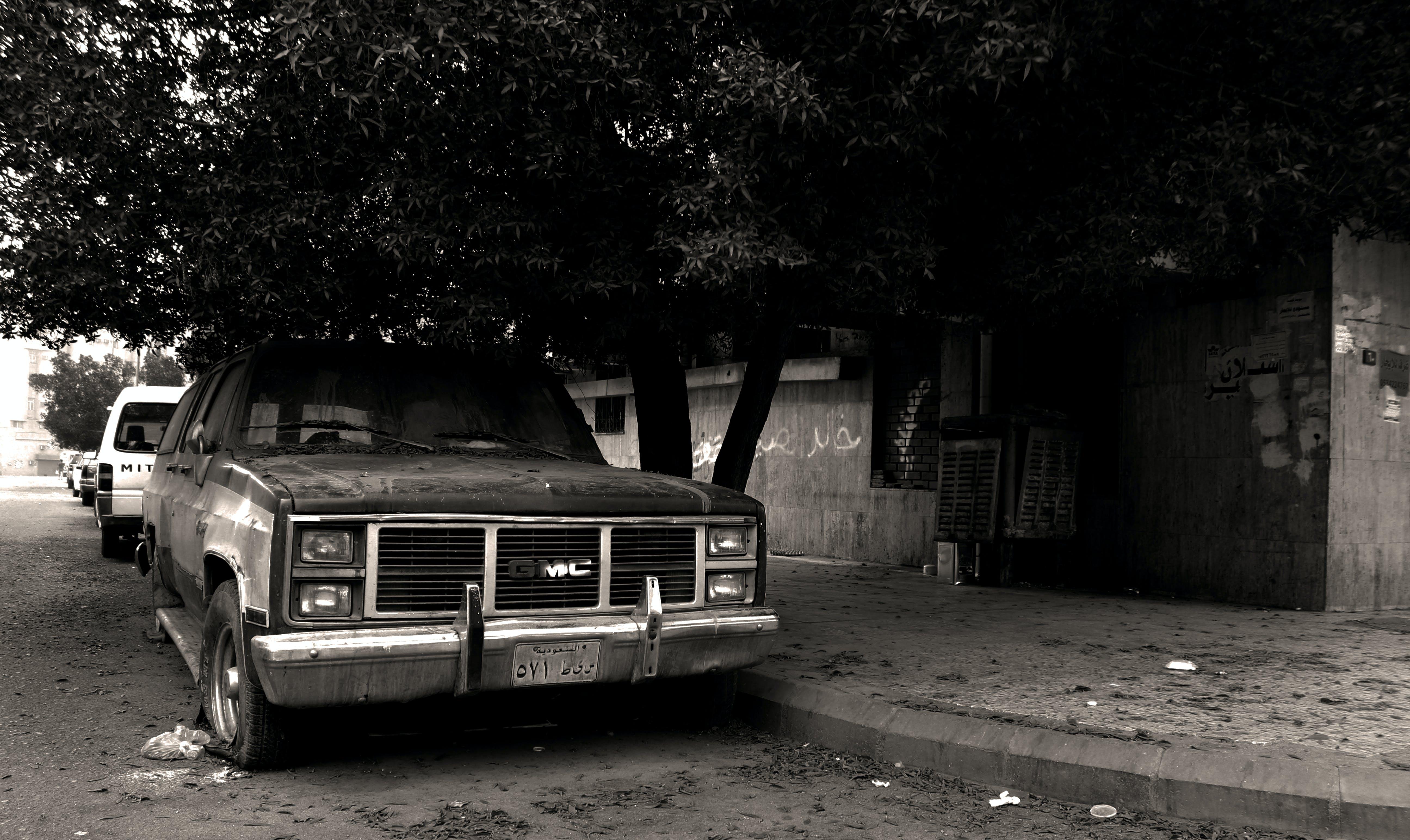 Free stock photo of street, wall, broken, car