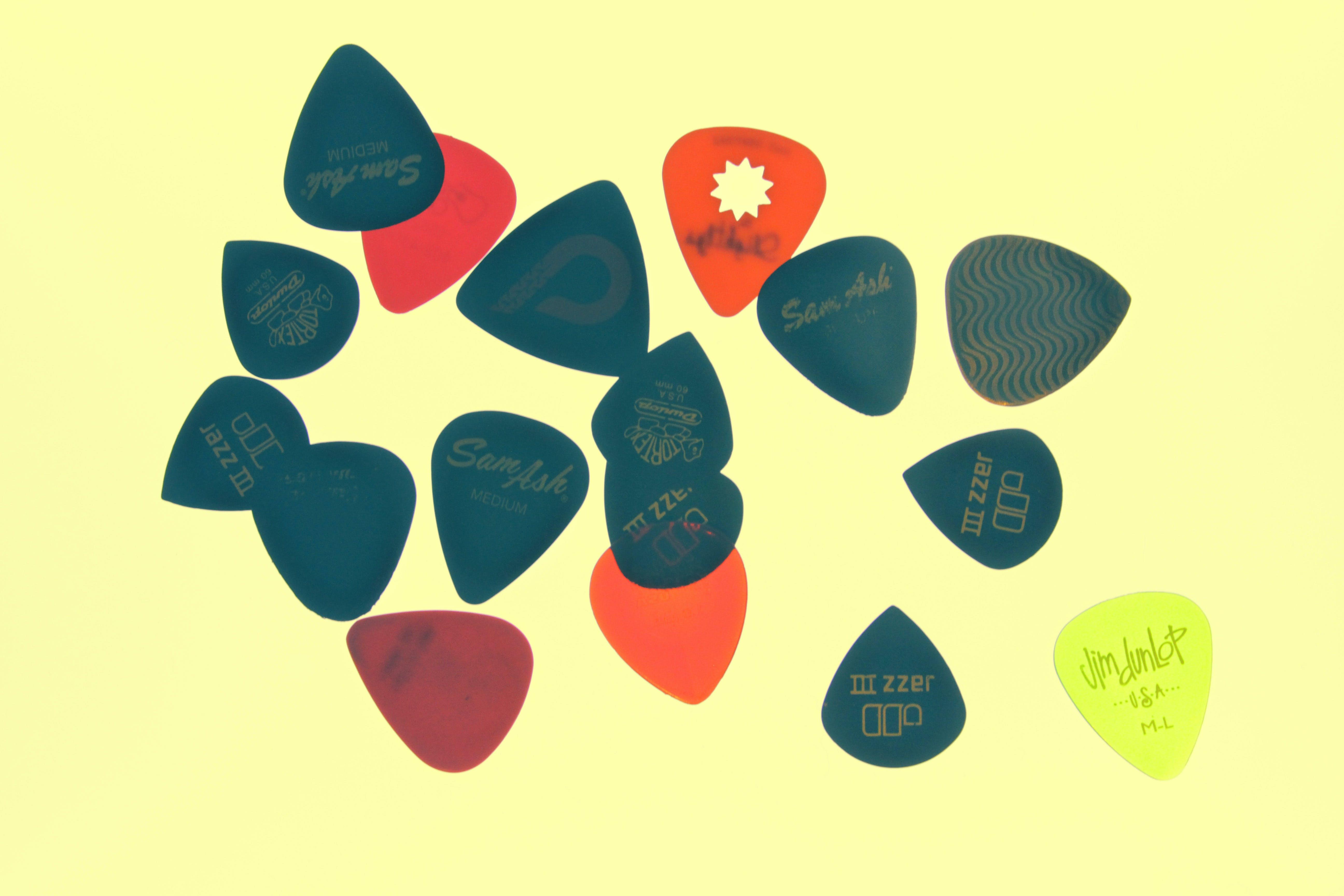Free stock photo of night, guitar, picks