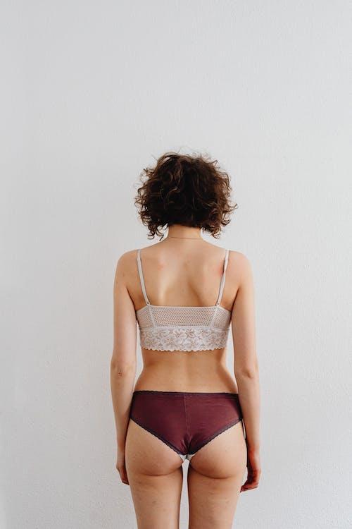 A Woman Wearing Underwear