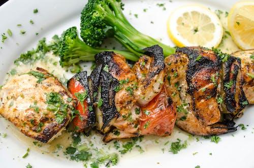 Free stock photo of barbecue, broccoli, chicken