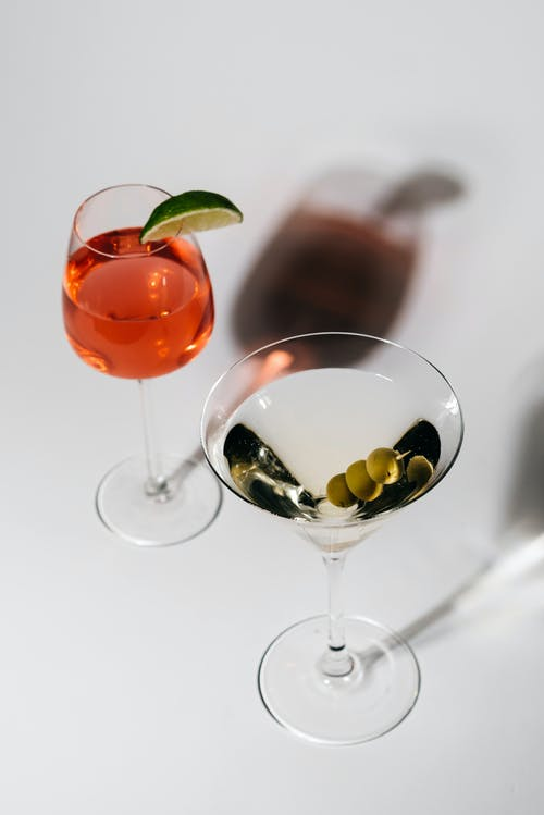Close-Up Shot of Cocktail Drinks