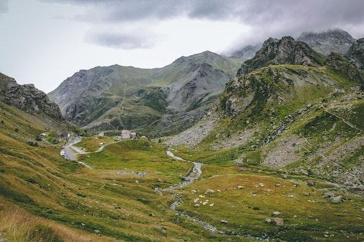 Panoramic Photo of Mountains Photo Taken