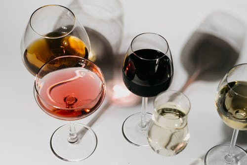 Close-Up Shot of Glasses of Alcoholic Beverages