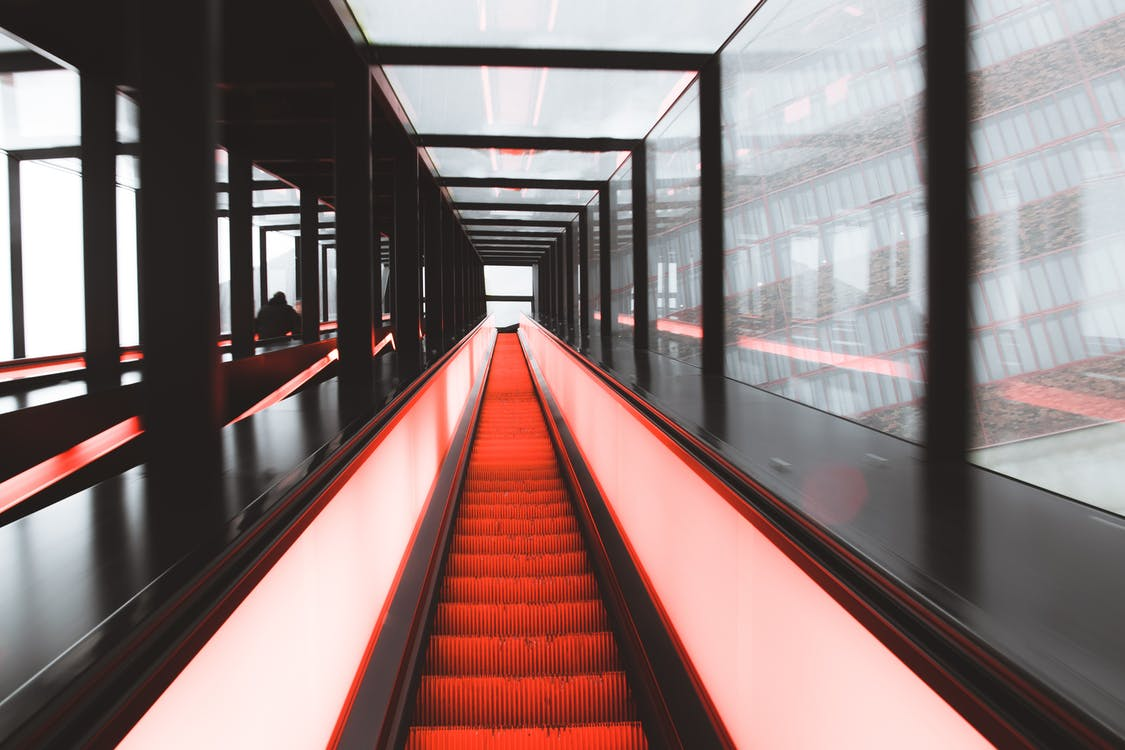 White and Orange Hallway