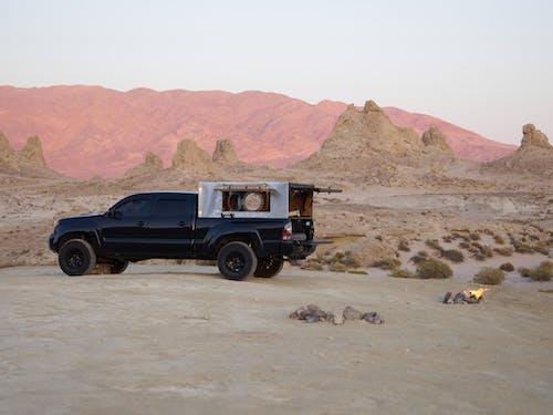 Camper Pickup on Brown Sand