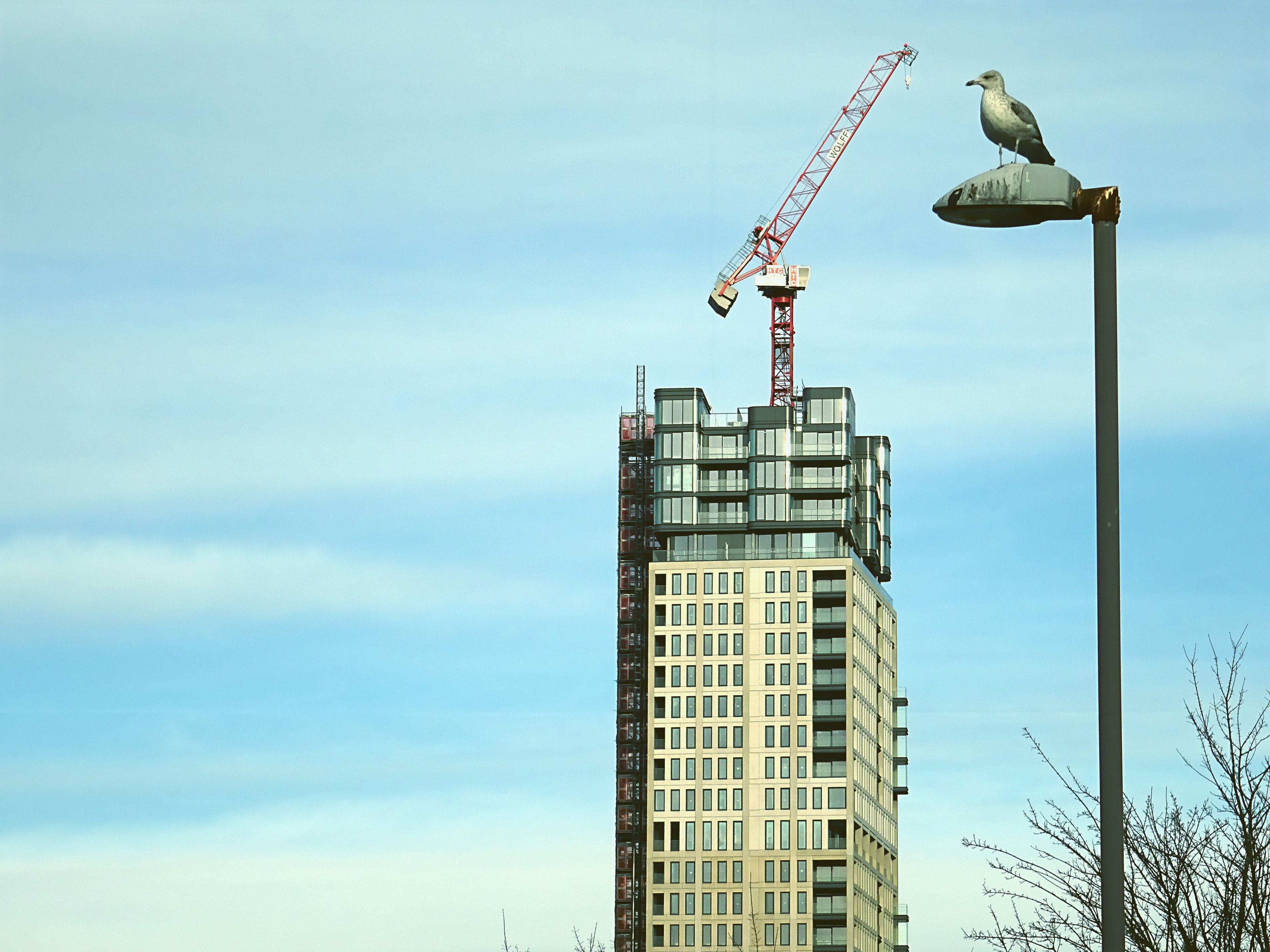 Beige Concrete High-rise Building
