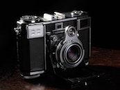 camera, vintage, lens