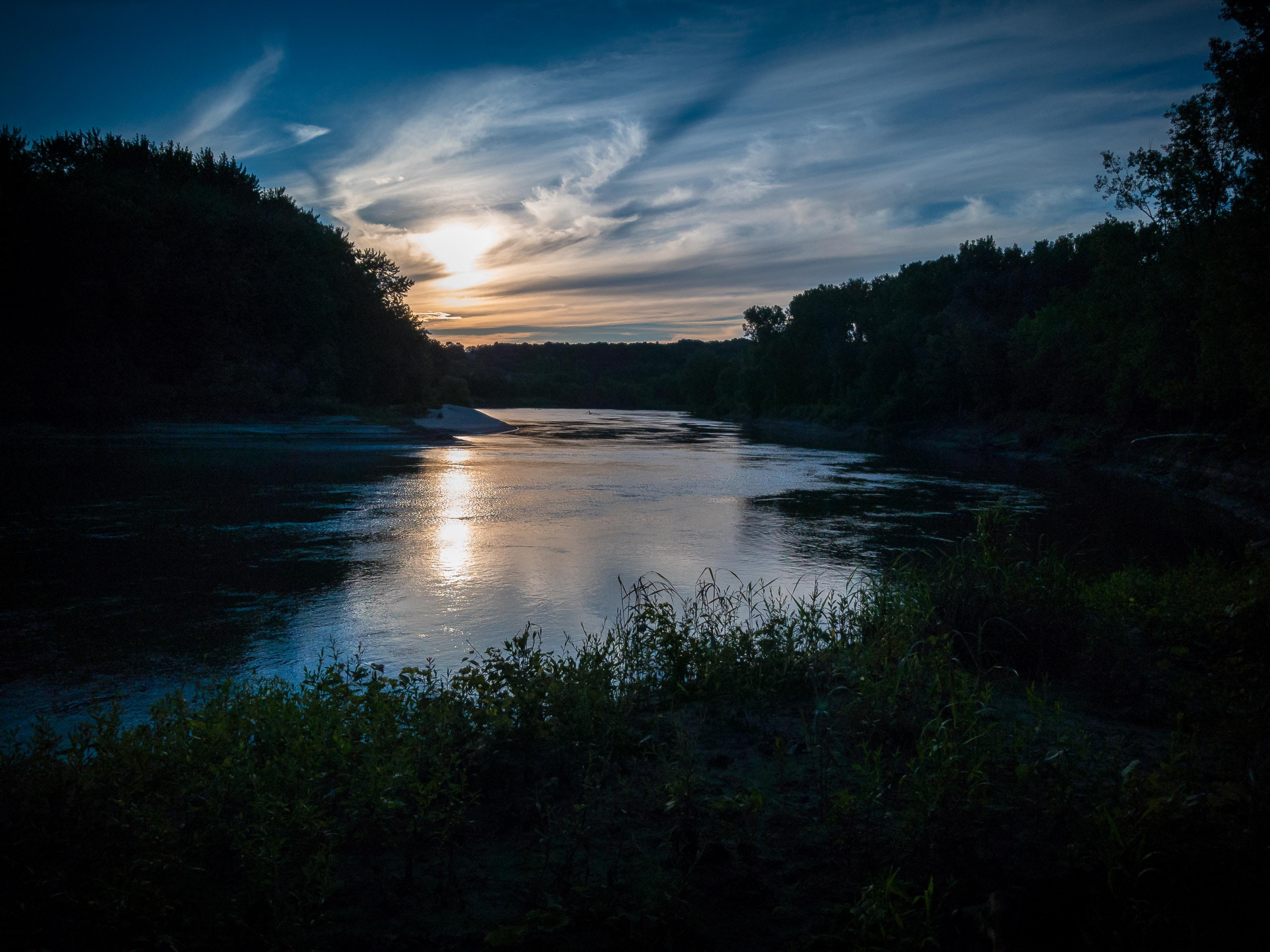 Free stock photo of blue, dark, minnesota river, river