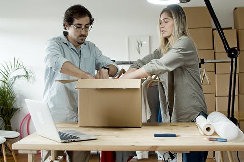 Couple Packing Products Together