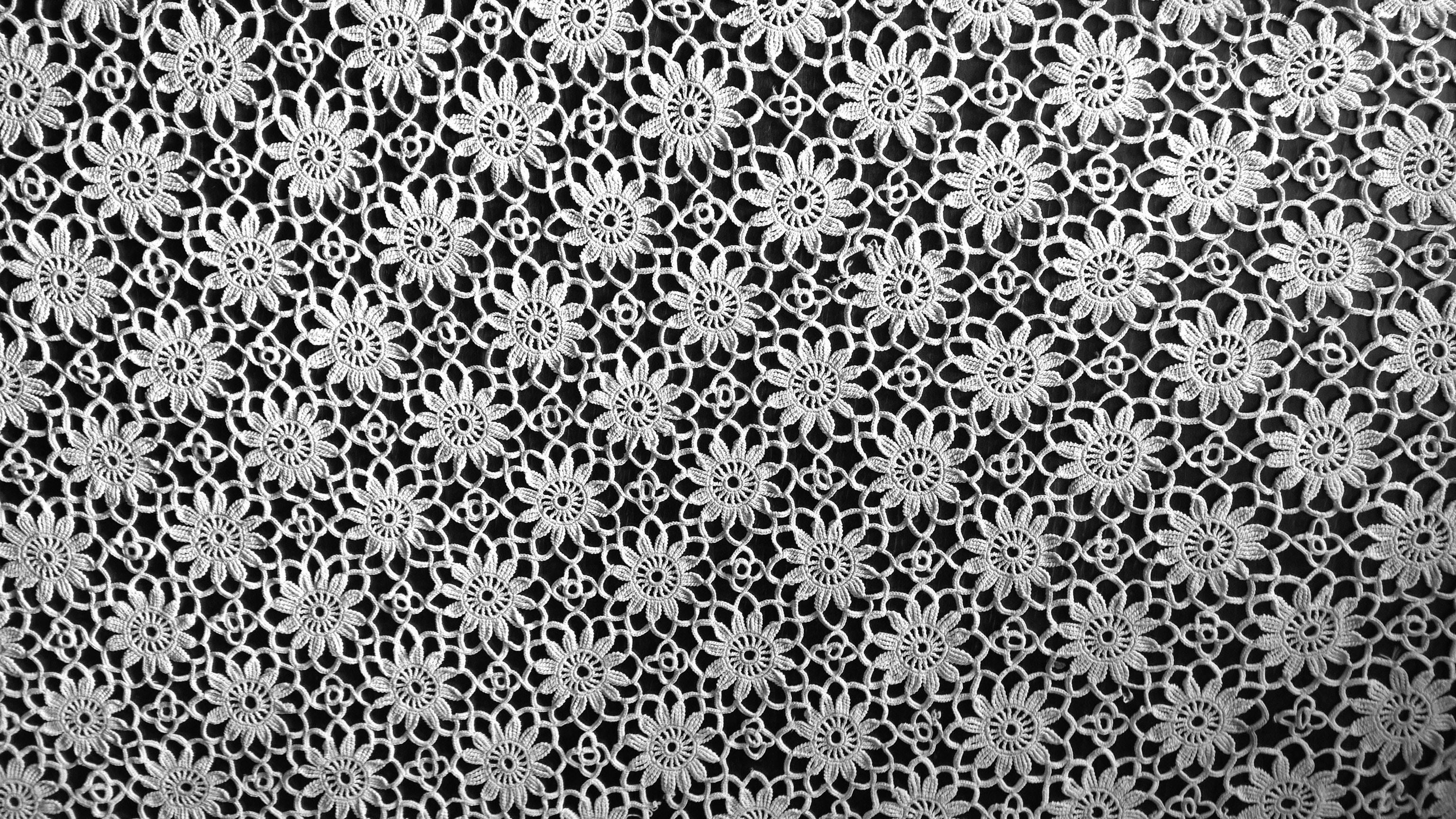 Free Stock Photo Of Blackandwhite Flower Lace