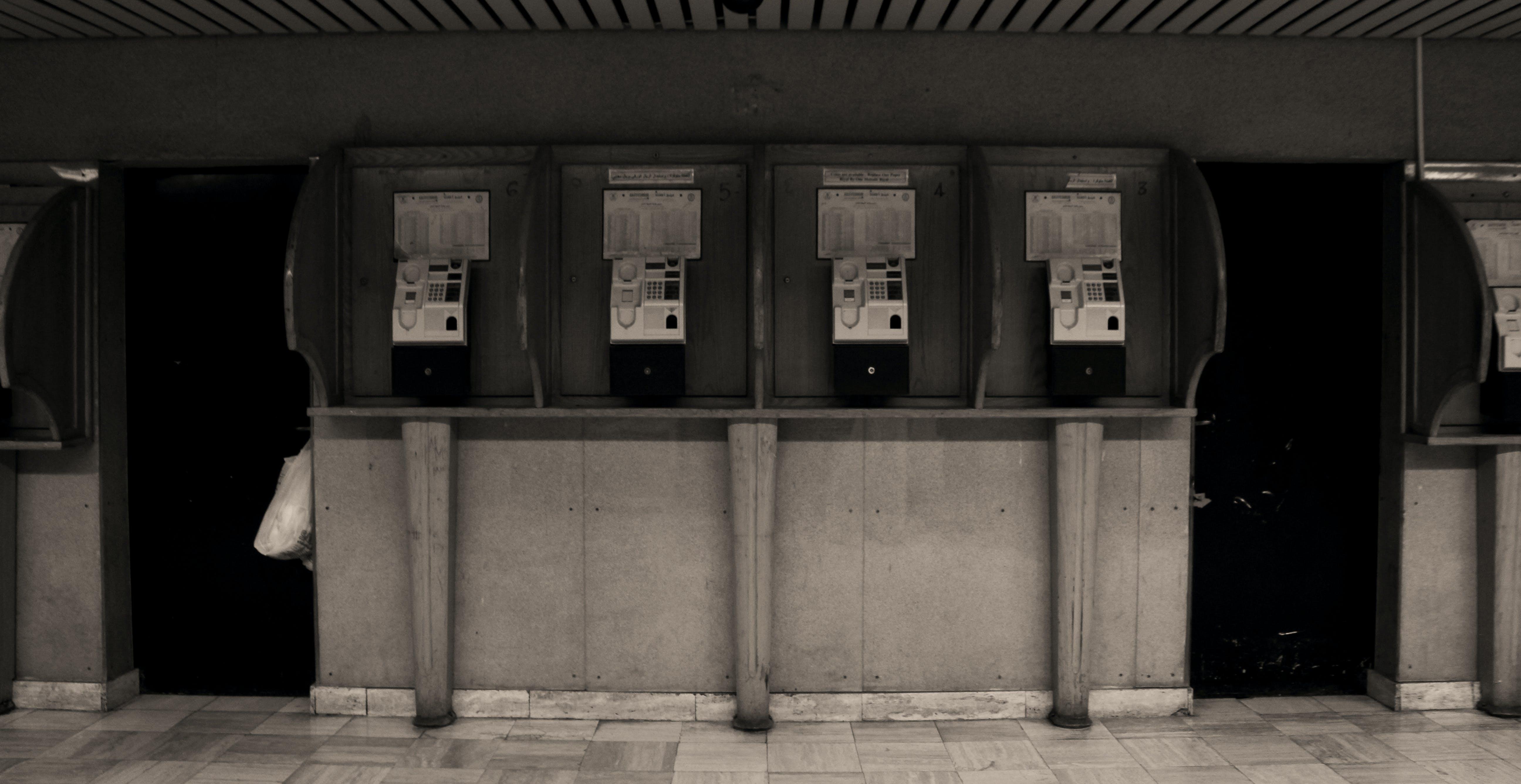 Free stock photo of antique, phone, phones, past