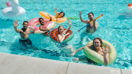 People in the Swimming Pool