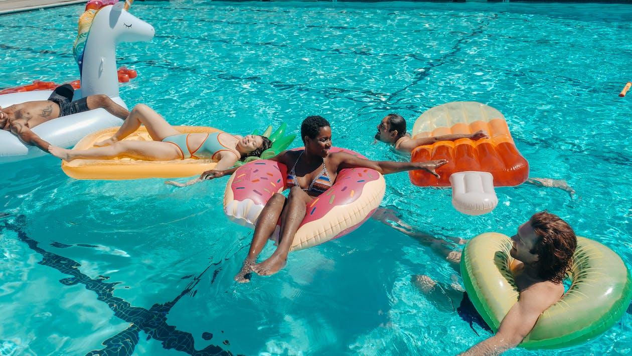 People Swimming in the Pool