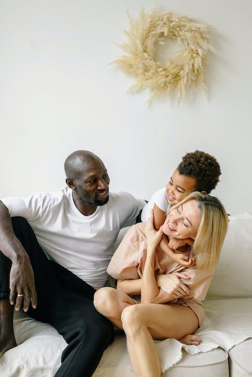 Multiracial Family Having Fun at Home