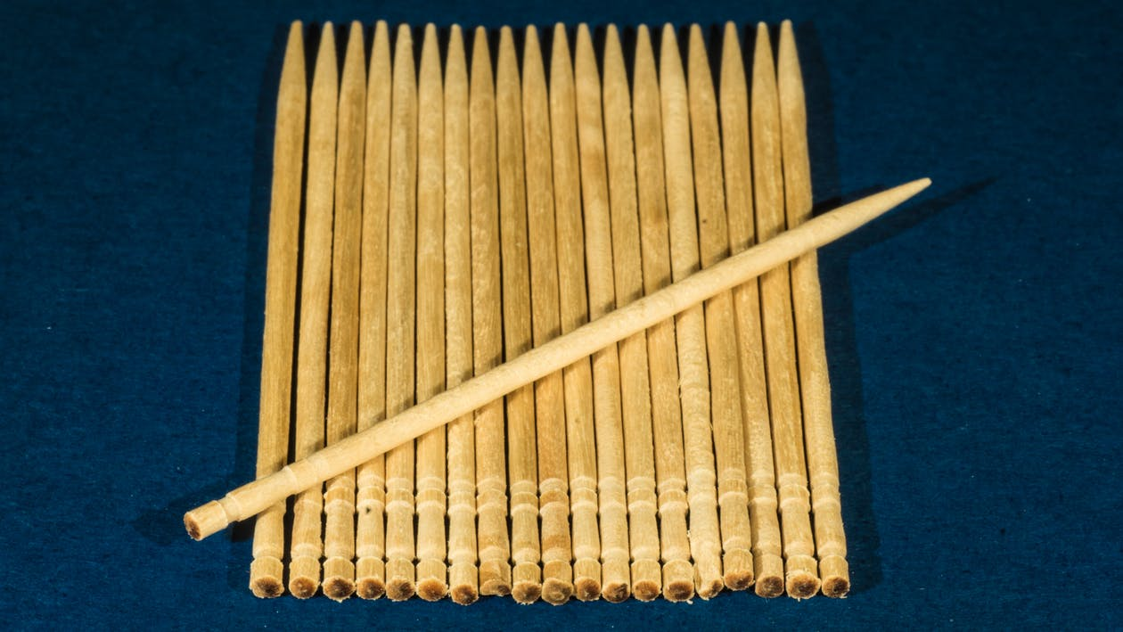 Free stock photo of blue, macro, toothpicks