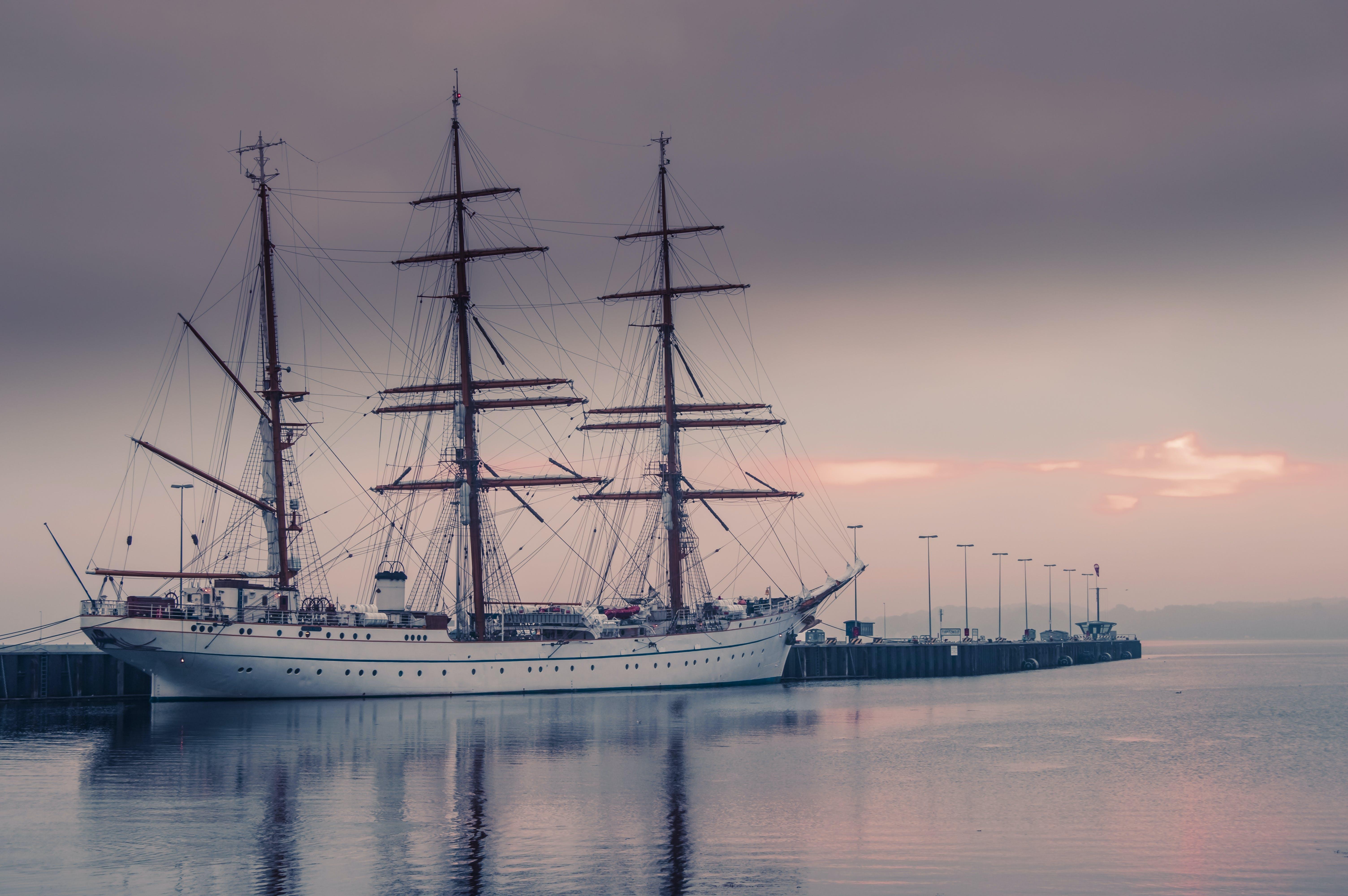 Free stock photo of sea, ship, misty