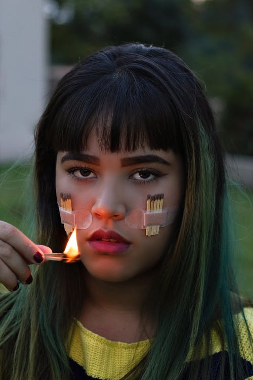 Girl With Face Paint on Face