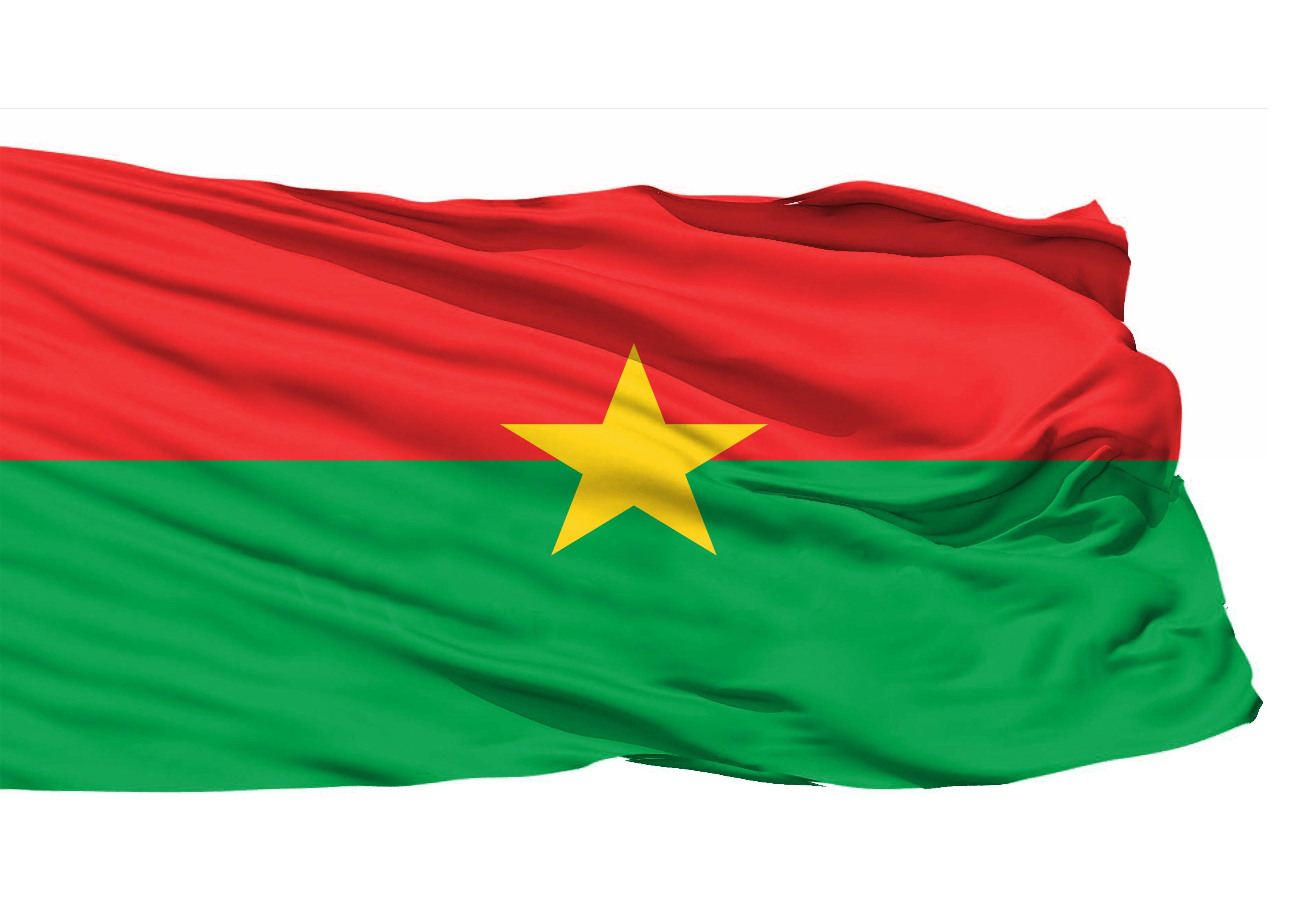 Kostenloses Stock Foto zu flagge, nationalflagge, 3d-flagge, burkina faso 3d-flagge