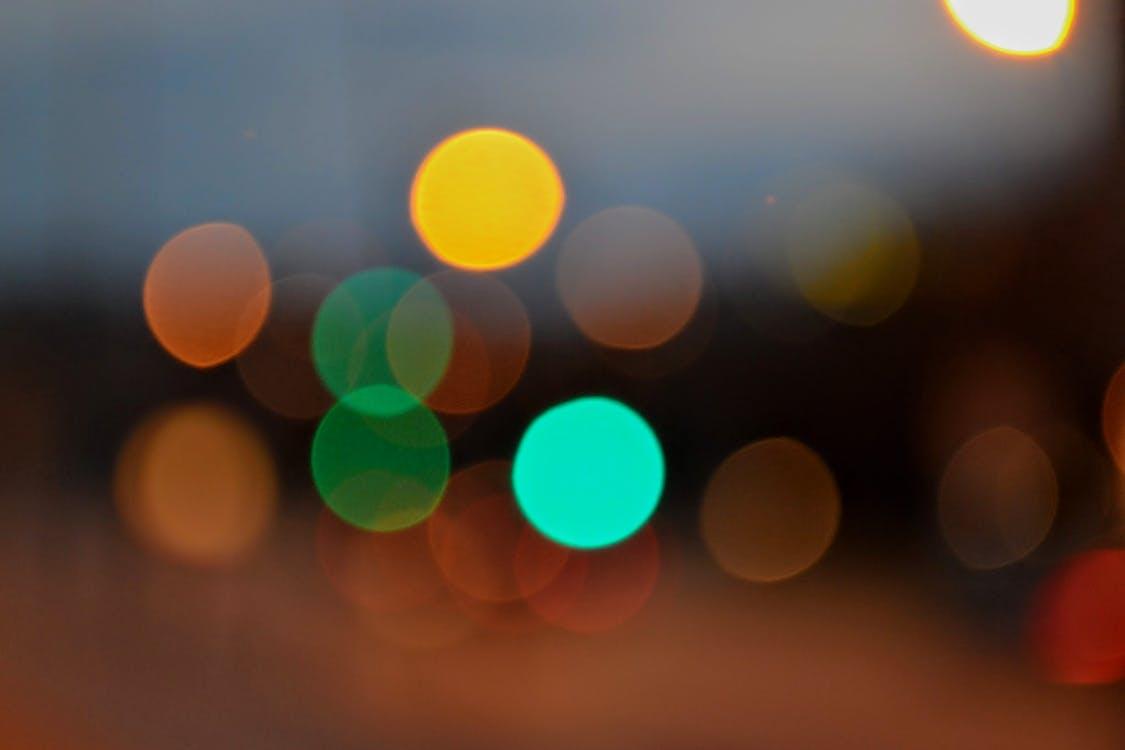 Free stock photo of blue, blur, circles