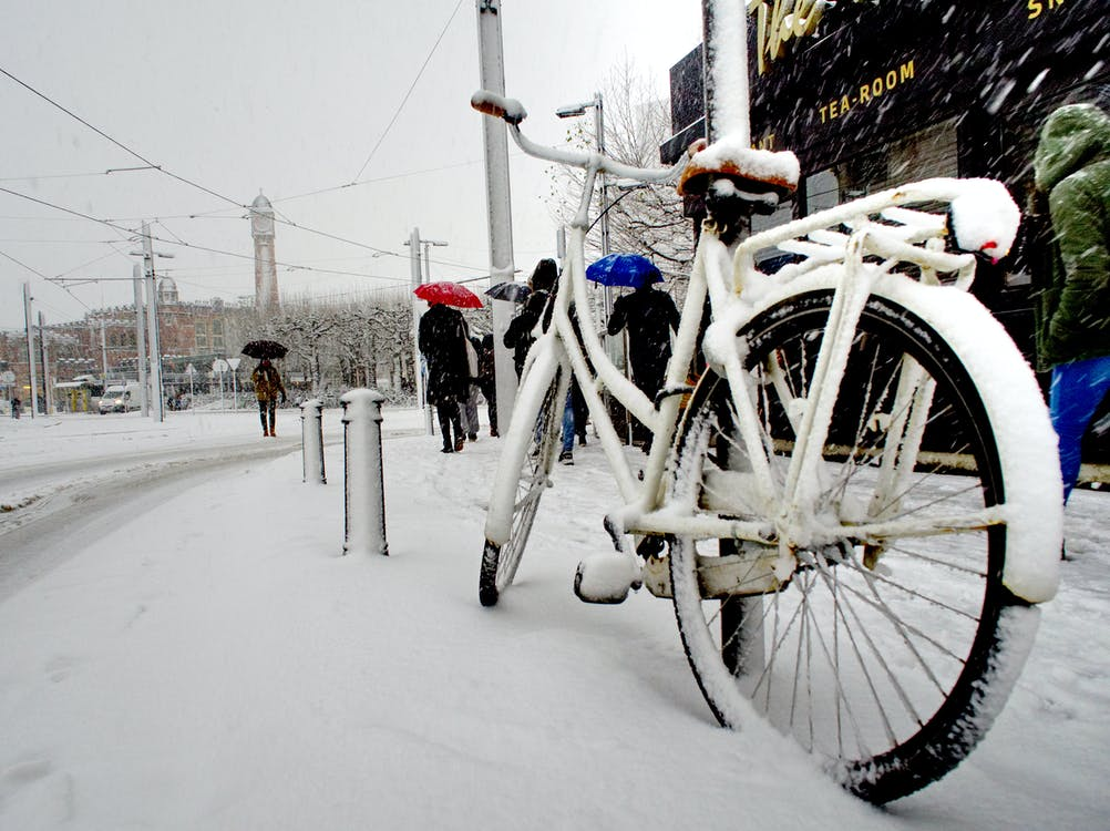 White City Bike Cover With Snow