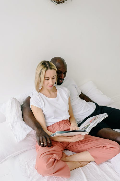 A Couple Reading in Bed