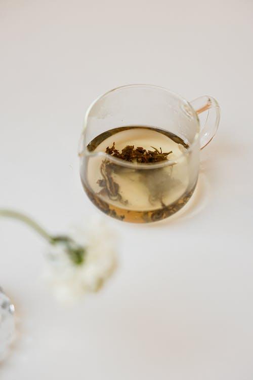Tea in a Clear Glass Pot