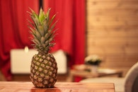 food, table, pineapple