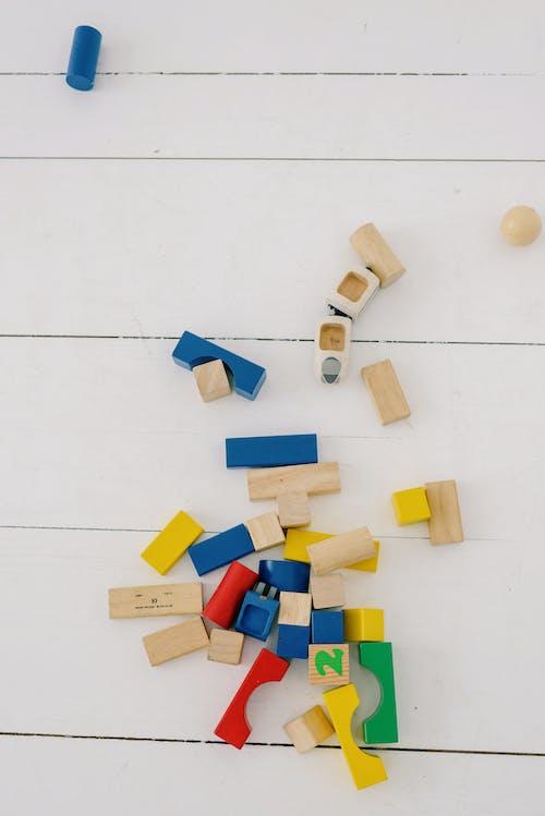 Children's Building Blocks Scattered on The Floor