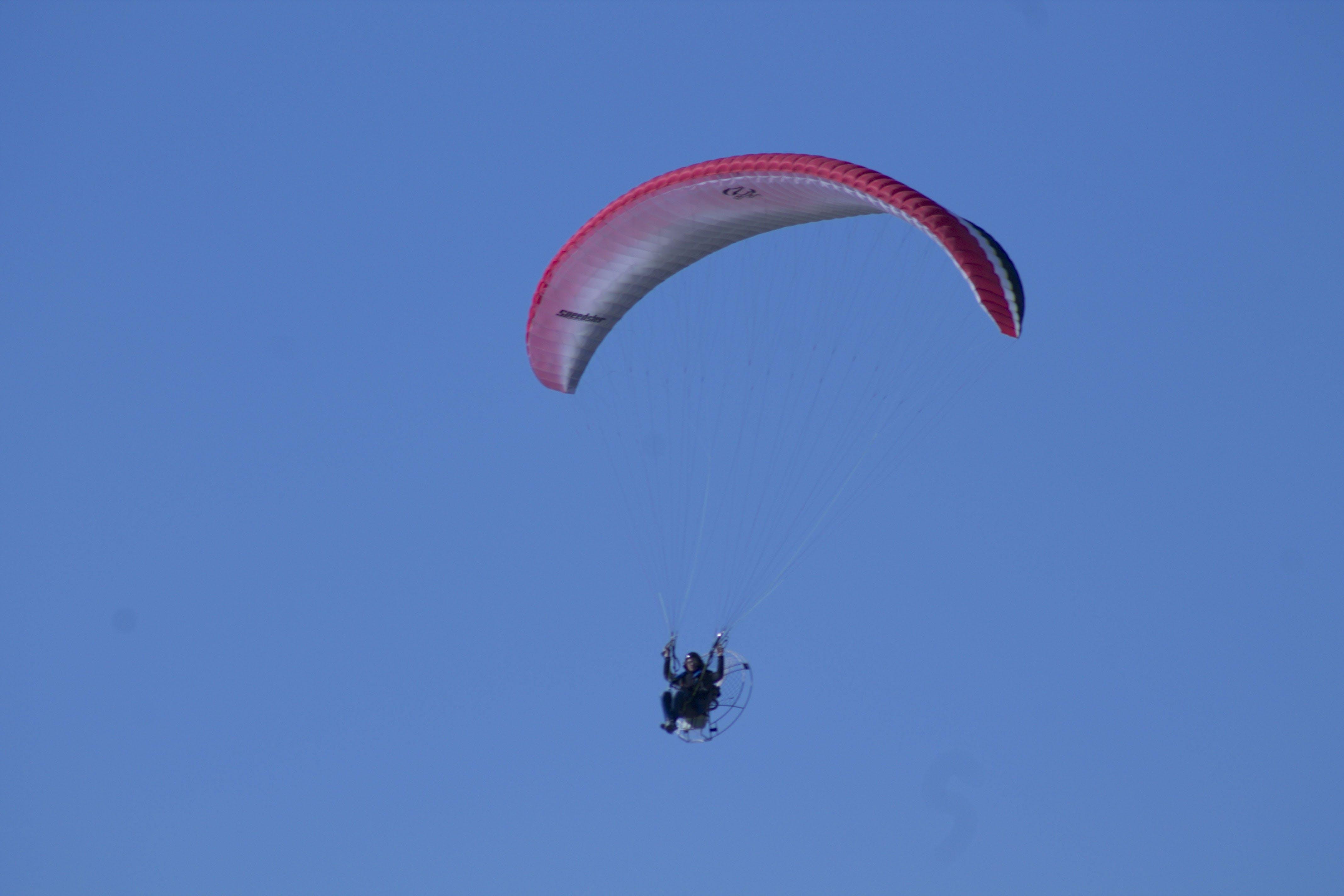 Free stock photo of flight, sky, man, blue sky