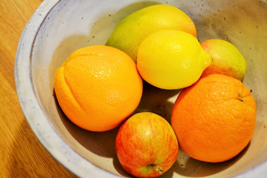 Free stock photo of apple, yellow, fruits, orange