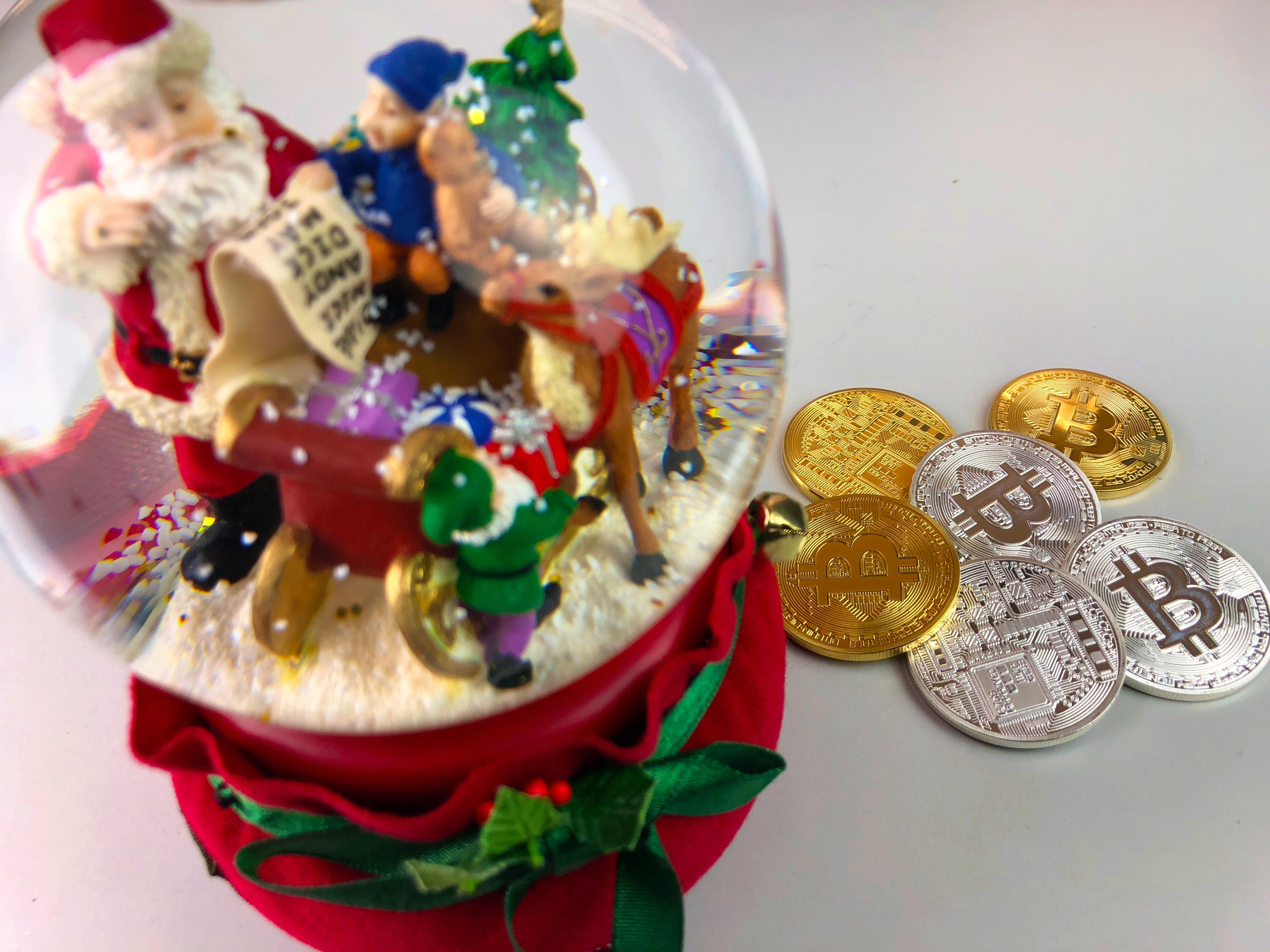 Free stock photo of bitcoin, christmas, cryptocurrency - 웹