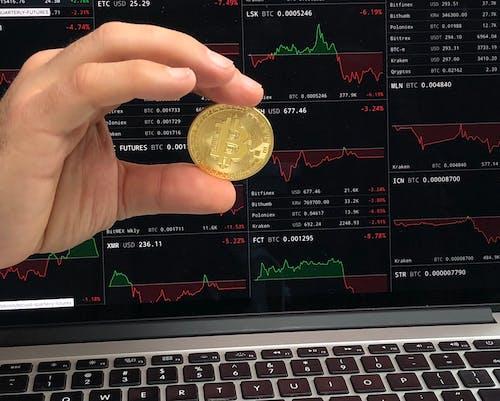 Бесплатное стоковое фото с рука, держащая криптовалюту