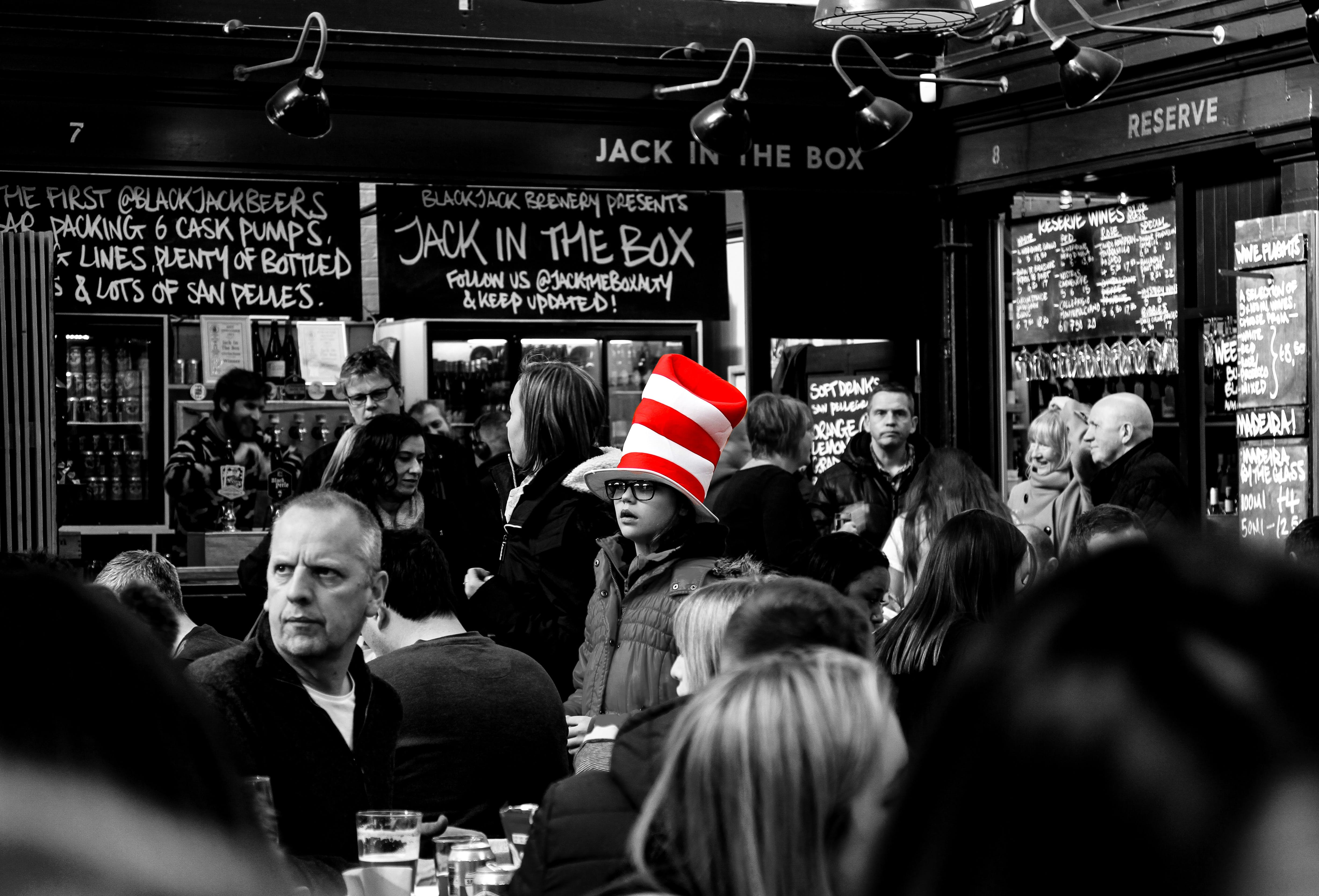 Free stock photo of manchester, jack box, cat hat, altringham market