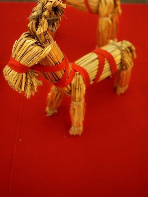 Gratis lagerfoto af bordindretning, dala hest, hest, jul