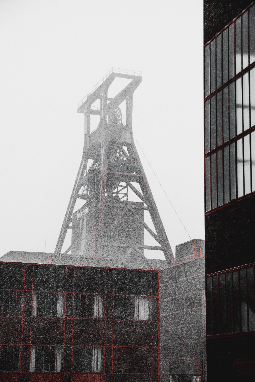 Základová fotografie zdarma na téma architektura, budovy, černobílý, energie
